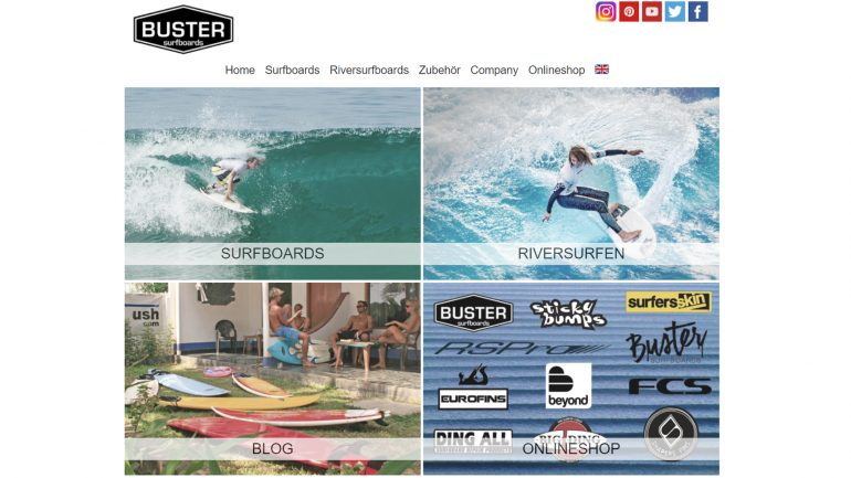 buster surfboards homepage im online surfshop test
