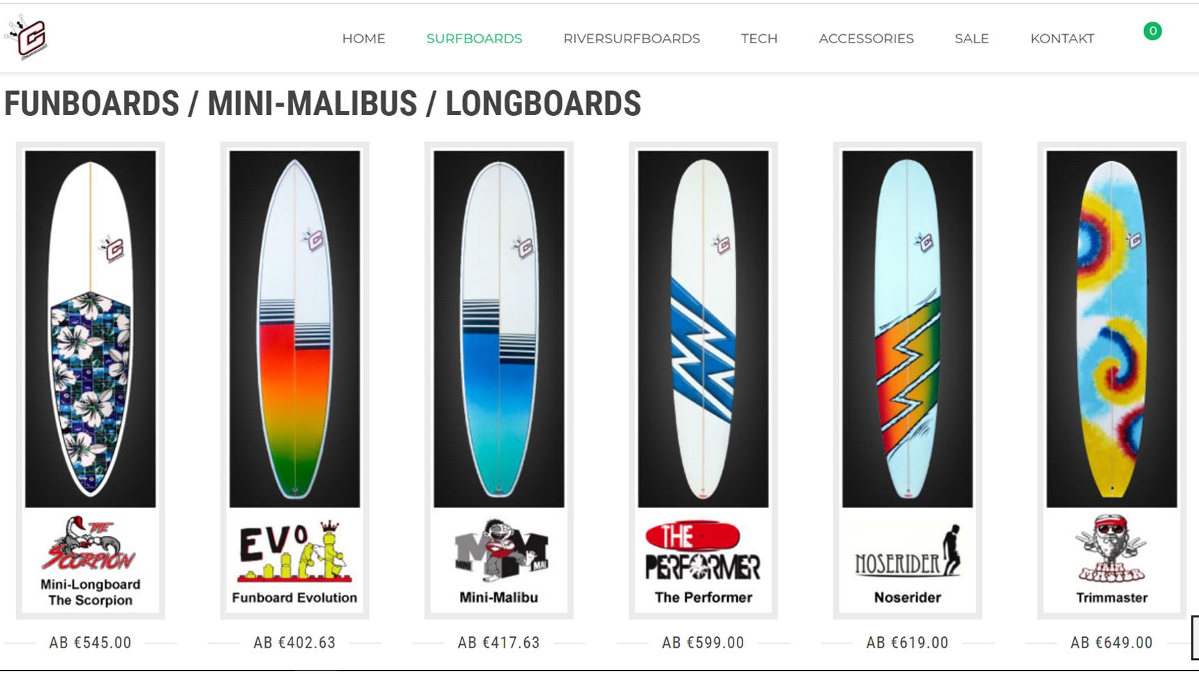 surfboard auswahl im clayton shop bei funboards und malibus