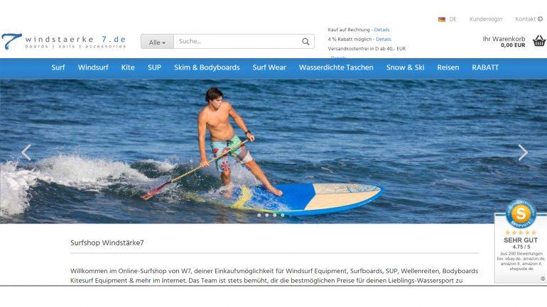 surfshop windstaerke 7 w7 im test - homepage