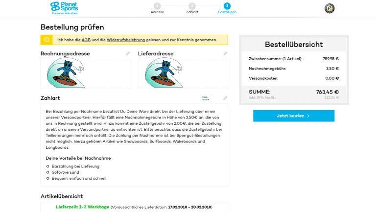1e0165c46b516 Surfboard Test Erfahrungen  Bestellung bei planet-sports.com