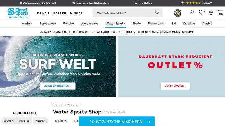 planet sports im online surfshop test