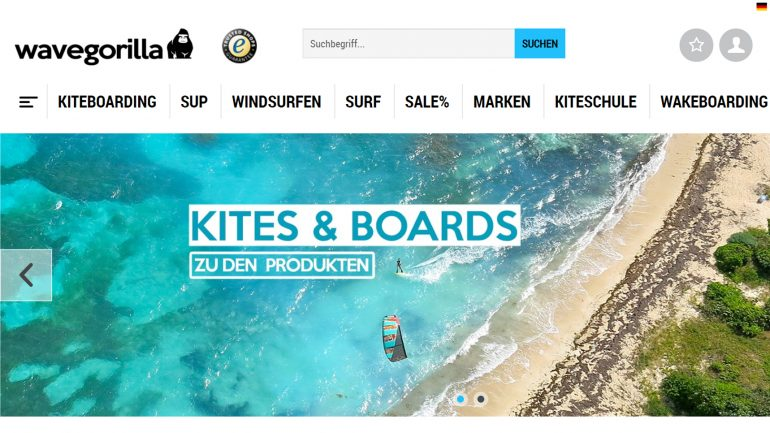 test des wavegorilla online surfshops - homepage