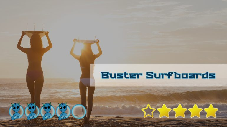 cover image mit bewertung des buster surfboards shop