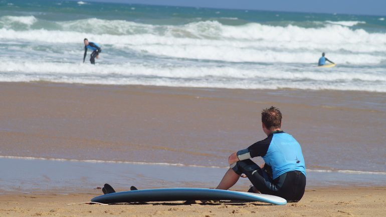 Surfen mit dem mellowmove team in sao lorenco