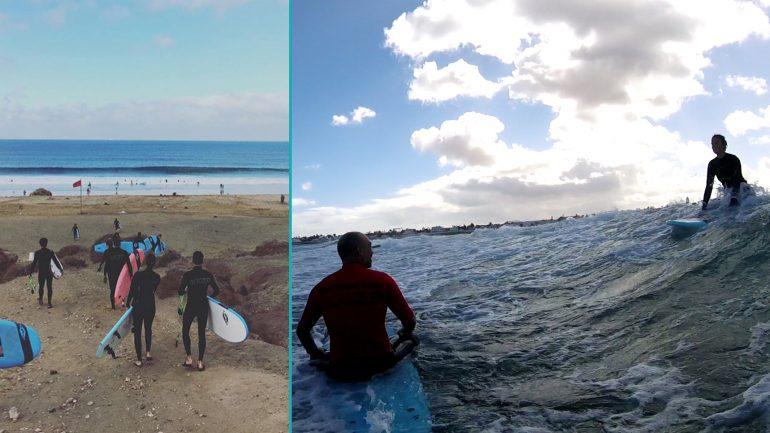 surfen mit der lineup surfschule auf fuerteventura
