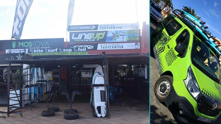 surfmobile und surfschule von lineup in corralejo