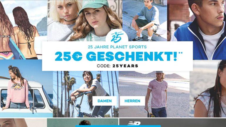25 euro geschenkt bei planet sports gutschein code