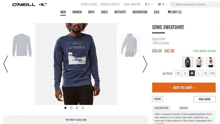 O'neill sweater um 20 % reduziert