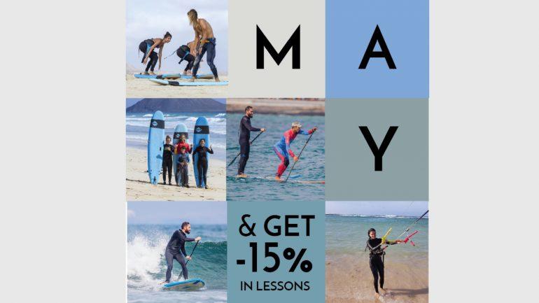 rabatt aktion im lineup surfcamp fuerteventura -15 % auf Kurse