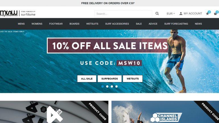 10 % rabatt für surfer auf alle bereits reduzierten artikel bei magic seaweed