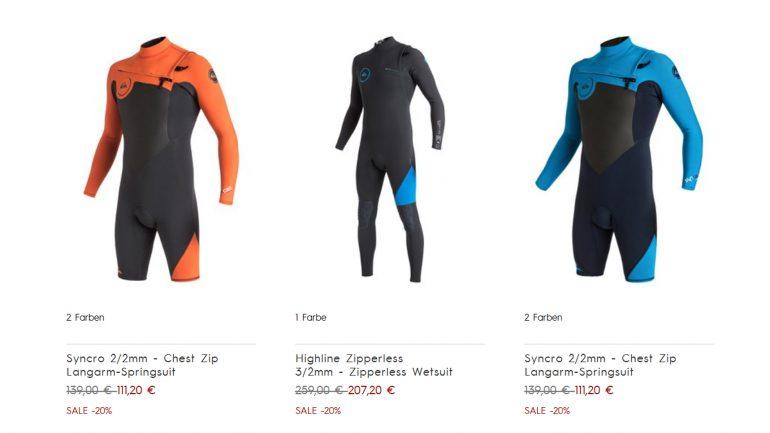 quicksilver shop sale wetsuits und lycras verbilligt