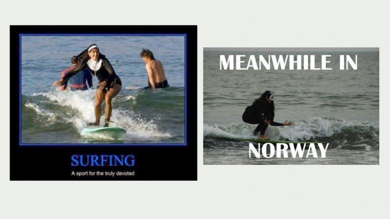 nonne surft surfer memes