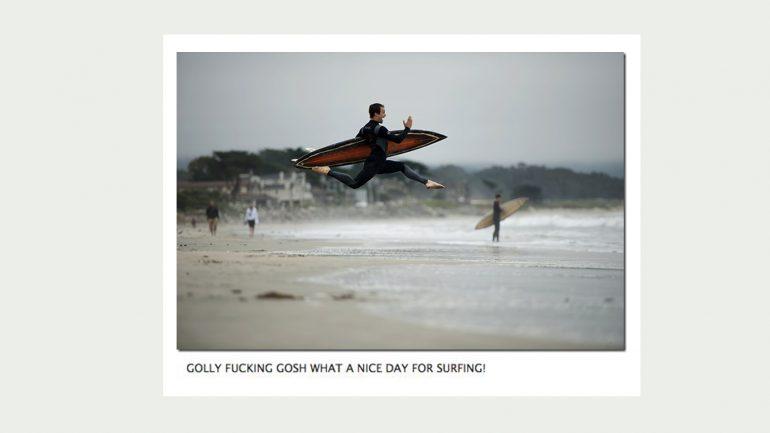 begeisterter Surfer wellenbericht meme