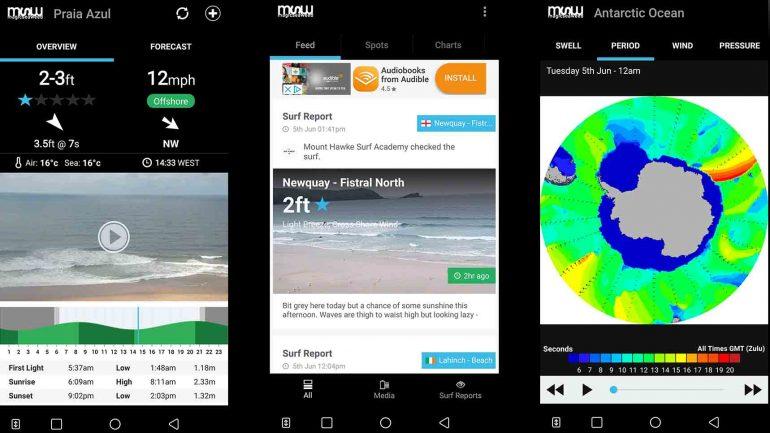 die smartphone app von magic seaweed msw im surfer test