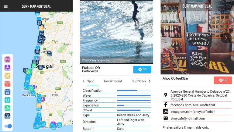 surfmap porutgal im apps test von surfern