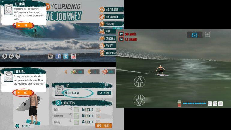 die smartphone app thejourney im surfer test surfgame