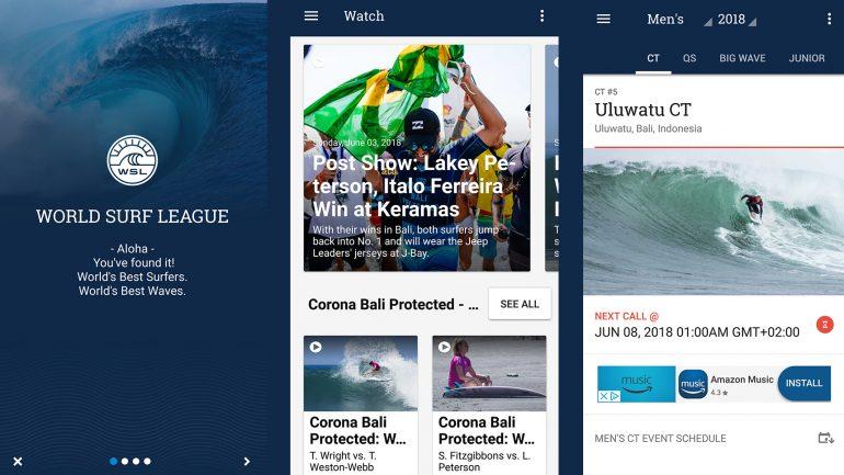 world surf league wsl app im test