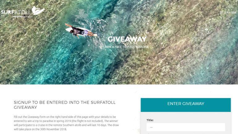 Surfer Gewinnspiel - traumreise und surftrip auf die malediven gewinnen
