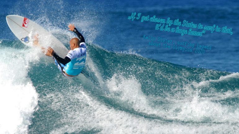kelly slater about the olympic surfing competition 2020 in tokyo