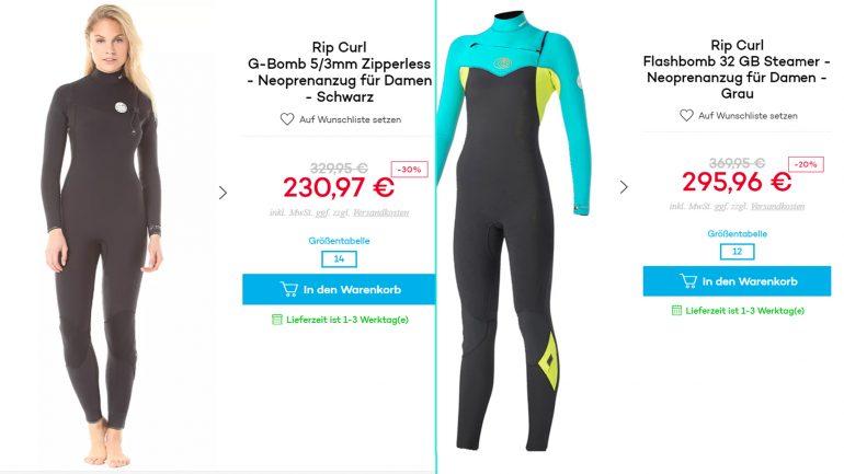 billige jacken für surfer von oneill um minus 60 prozent rabatt