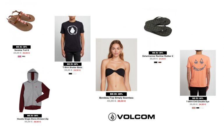 good deals bei volcom für surferinnen und surfer