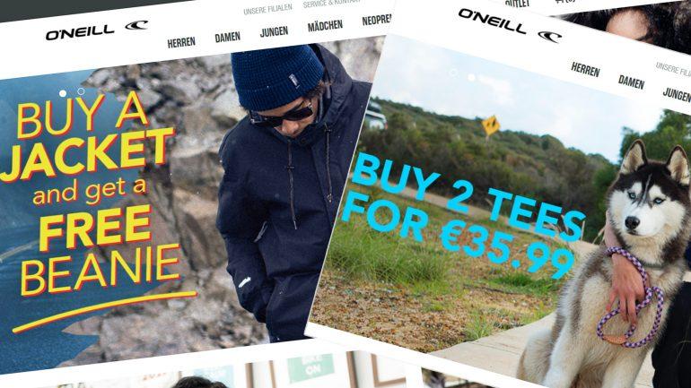 angebote und deals für surfer im oneill onlineshop
