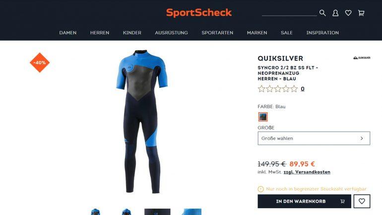 quiksilver syncro kurzärmlich angebot super billig bei sportscheck