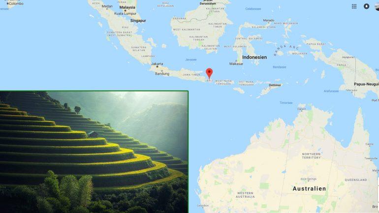 Bali Indonesien geographische Lage und hervorragender Spot zum Surfen