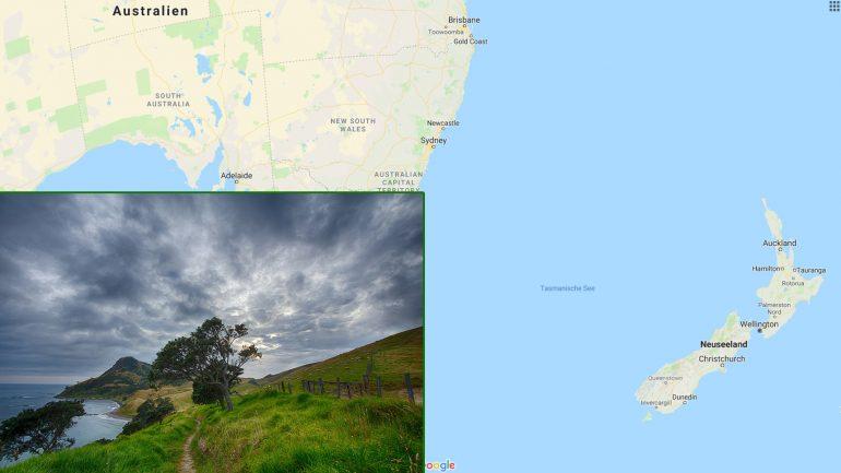 surfen in neuseeland destination und geographische Lage