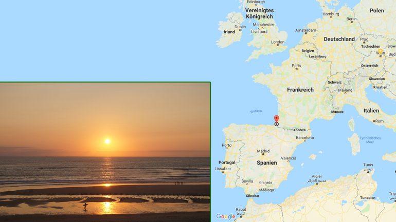 süd-west-frankreich surfdestination und geographische lage
