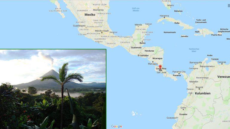 surfen in costa rica plus geographische lage