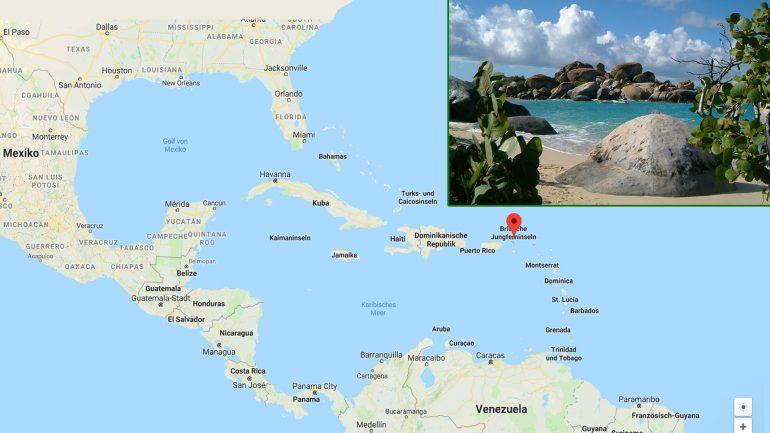 tortola auf den british virgin islands ist eine hervorragende Surfdestination geographische lage