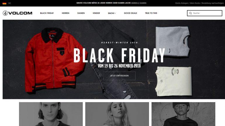 volcom online surfshop mit tollen black friday week angeboten