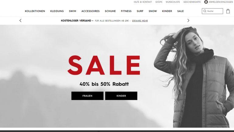 surferin ausverkauf und sale bei Roxy mit 50 % billiger Preisreduktion