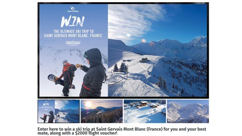 Top Gewinnspiel für snowboard ski urlaub bei ripcurl