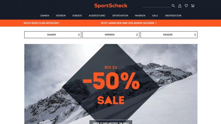 abverkauf von 17000 sportartikeln bei sportscheck - 50 % rabatt für surfer snowboarder und co