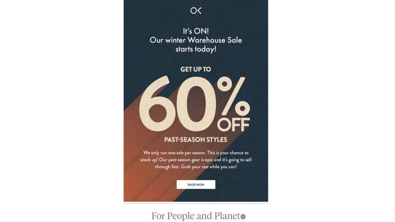 ausverkauf bei outerknown auf die alte kollektion mit 60 prozent billiger