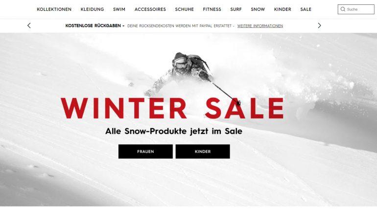 roxy winterschlussverkauf für surferinnen mit billigen aktionen