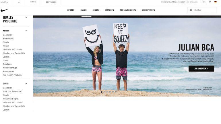 hurley surf kollektion für den kampf gegen brustkrebs