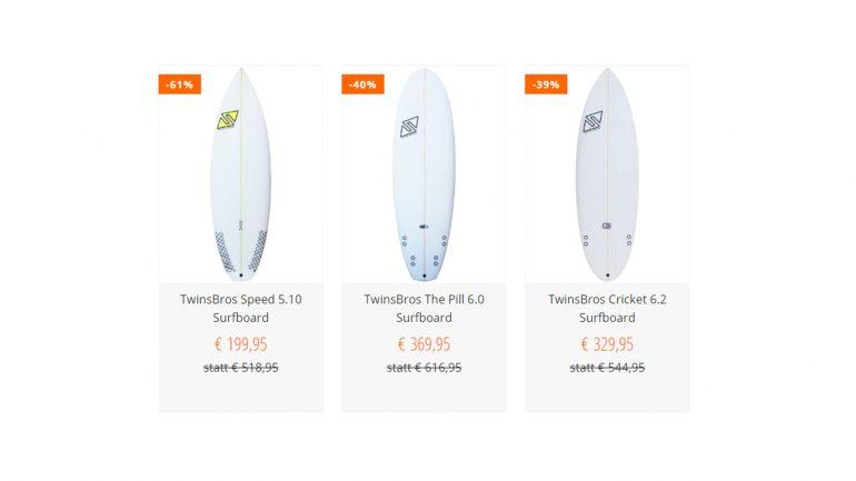twinsbros surfboards billiger im sale von bluetomato deutschland