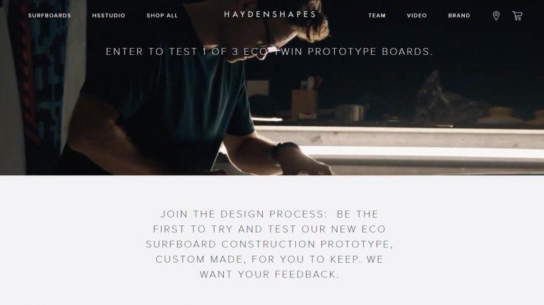 Haydenshapes Surfboard Eco Twin Fin zu gewinnen