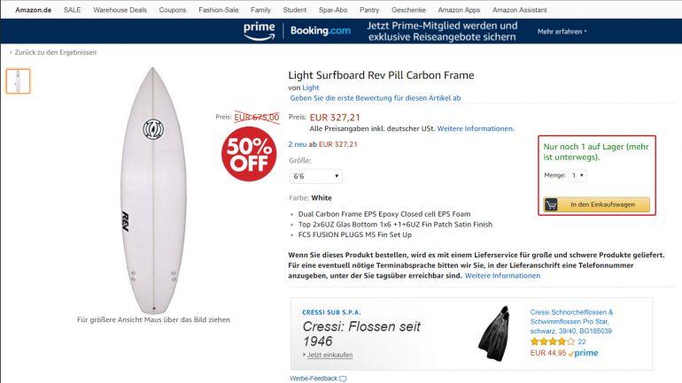 surfboards billiger kaufen: 50 % Rabatt auf das Rev Pill Surfbrett von Light Boards