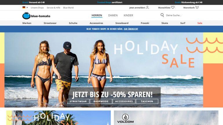 summer sale 2019 bei blue tomato mit 50 % billigeren surf produkten