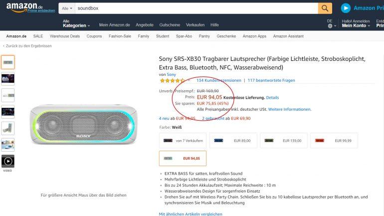 Sony soundbox preisreduziert bei amazon kaufen