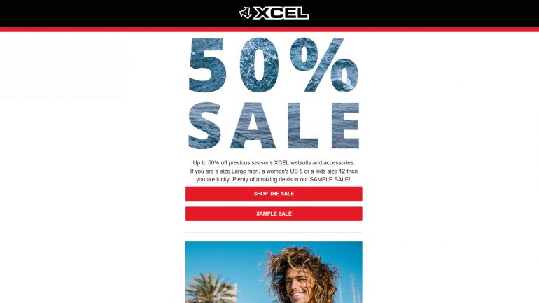 Neoprenanzuege und Wetsuits billiger shoppen bei xcel mit rabatt von 50 % und mehr