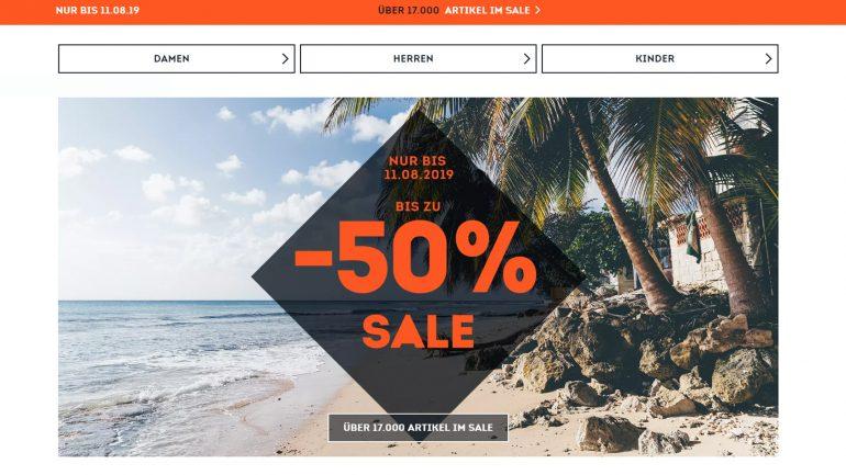 50 % und mehr sparen mit dem Surf Sommer Abverkauf bei Sportscheck