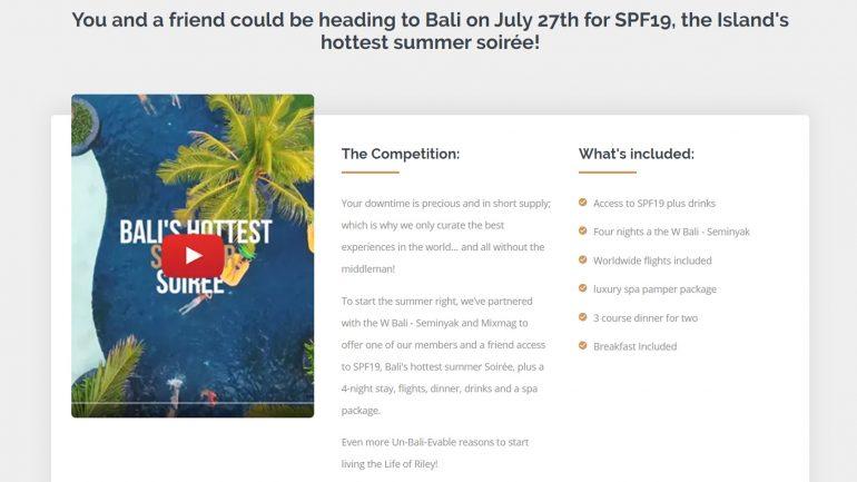 gewinne einen all inclusive Urlaub nach Bali für dich und deinen Freund